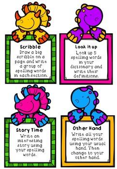 Dinosaur Word Work Cards