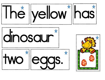 Dinosaur Word Work and Working on Writing