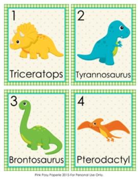 Dinosaur Write the Room Activity