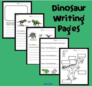 Dinosaur Writing Pages