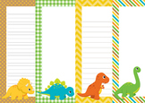 Dinosaur Writing Paper - 3 Styles - 4 Designs
