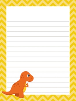 Dinosaur Writing Paper - 3 Styles - 4 Designs