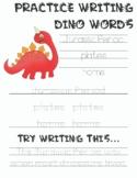 Dinosaur Writing Practice, Tracing Practice
