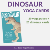 Dinosaur Yoga Cards for Kids