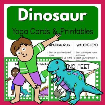 Dinosaur Yoga - Clip Art Kids