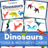 Distance Learning: Dinosaur Yoga Pose & Movement Cards and