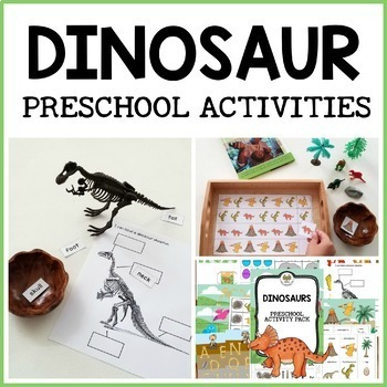 Dinosaur activity pack for Pre-K, Preschool and Tots