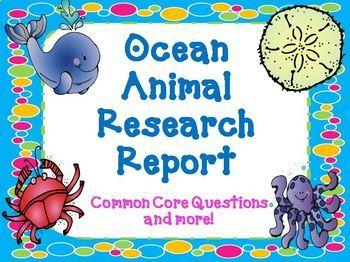 Dinosaur and Ocean Animal Report Bundle