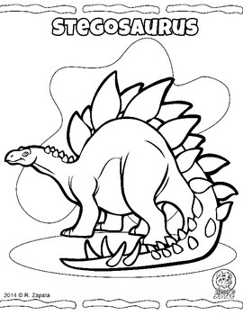 Dinosaur and Prehistoric animals coloring book