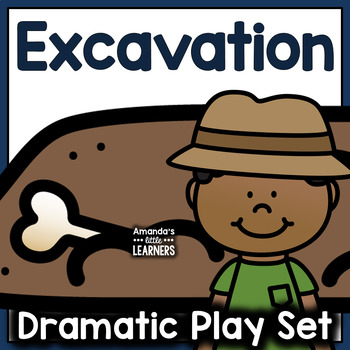 Dinosaur and Rock Excavation Dramatic Play Set