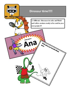 Dinosaur and sports clipart