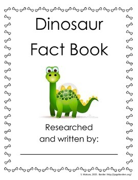 Dinosaur fact book template