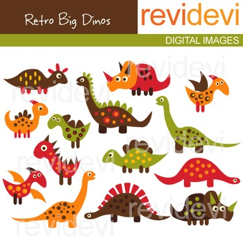 Dinosaur clip art (for personal and commercial use) dino clipart