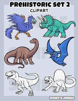 Dinosaur clip art set 3