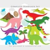 Dinosaur clipart - dinosaurs clip art, prehistoric, tricer