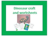 Dinosaur craft and worksheet set