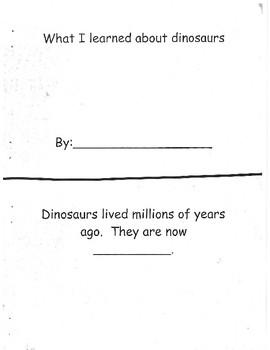 Dinosaur emergent reader