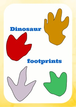 photo regarding Printable Dinosaur Footprints identified as Dinosaur footprints