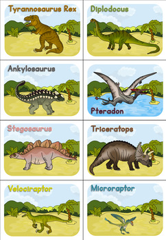 Dinosaur games - pairs and find a dinosaur