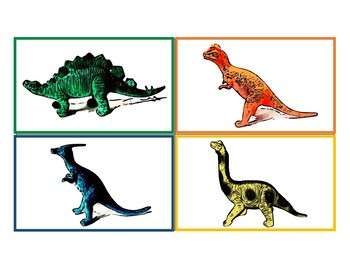 Dinosaur information flash cards