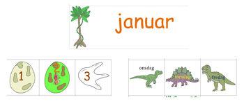 Dinosaur kalenderkort