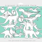 Dinosaur blacklines black lines lineart line art coloring page clipart t-rex
