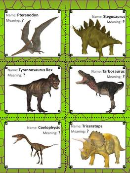 Greek and Latin roots in dinosaur names
