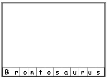 Dinosaur names puzzle For Pre-k/Kindergarten