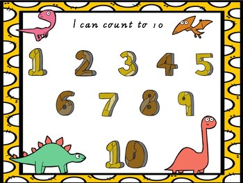 Dinosaur numbers to 10