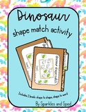 Dinosaur shape match file folder games