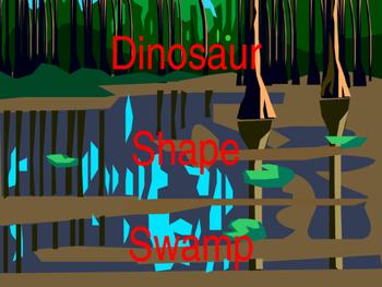 Dinosaur shape power point describing Shapes