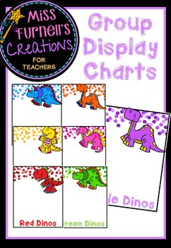 Dinosaur themed Group Display Charts