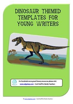 Free Dinosaur themed writing pack