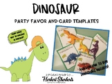 Dinosaur valentines cards or party favors