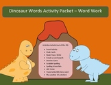 Dinosaur words differentiated spelling packet by SpellingPackets.com