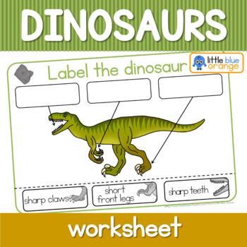 Dinosaur worksheets - label the dinosaur