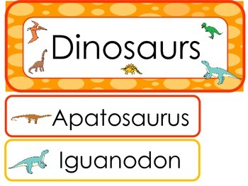 Dinosaurs Word Wall Weekly Theme Posters.