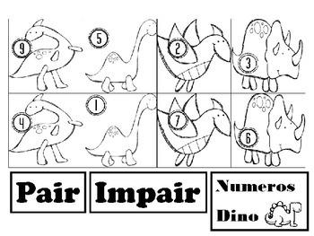 Dinosaures- Pair ou Impair
