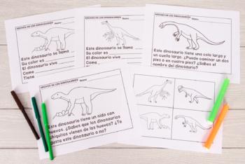 Dinosaurios - Escritura Fácil - Using Preferred Topics to Initiate Writing Tasks