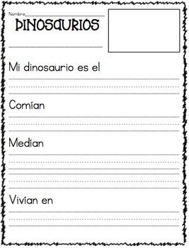 Dinosaurios Textos Informativos