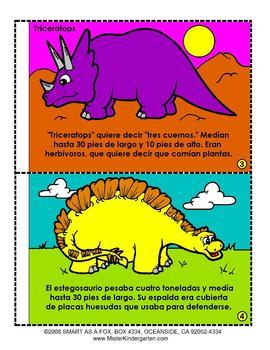 Dinosaurios Thematic Unit in Spanish