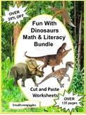 Dinosaur Activities Bundle Math Literacy Centers Special Education Preschool