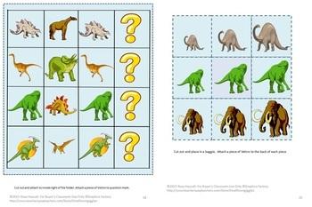 Dinosaur Cut and Paste Fine Motor Activities Bundle Special Education, Autism