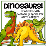 Dinosaurs Printables Pack with Realistic Graphics