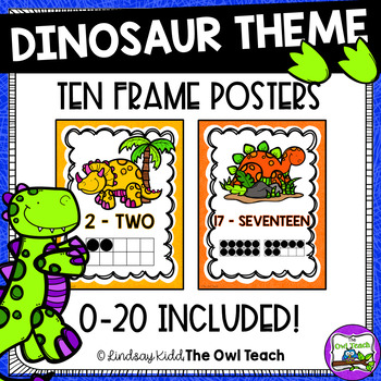 Dinosaurs Theme:  10 Frame Posters