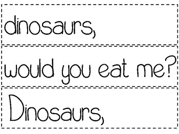 Dinosaurs - 2 Pocket Charts, Emergent Reader, Word Wall Cards