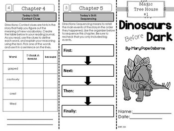Dinosaurs Foldable Novel Study Unit