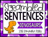 Dinosaurs Scrambled Sentence Station