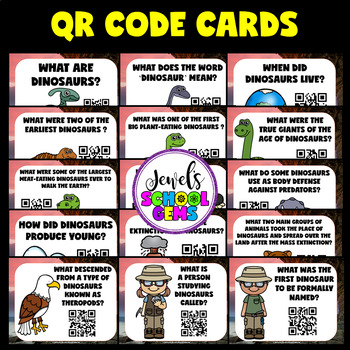 Dinosaur Activities (Dinosaur QR Codes Scavenger Hunt)