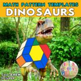 Dinosaurs Shape Puzzles | Printable Math Pattern Block Templates